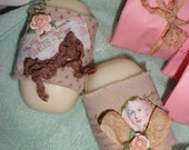 Paris Marie Antoinette Set of Two Bars of Goatsmilk Soap in Oh So Pretty Packaging