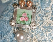 Miladies Baubles Garden Inspired Wired Pendant with Pearls