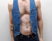 70s DICKIES button up DENIM VEST made in usa