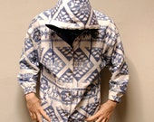 NATIVE AMERICAN lightweight button up HOODED spring jacket