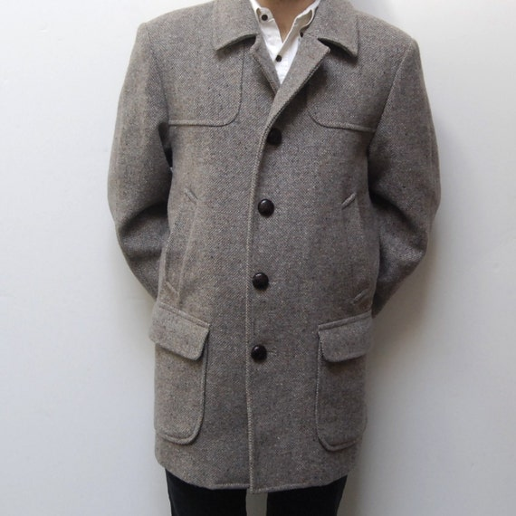 PENDLETON PEACOAT grey wool high quality jacket made in USA