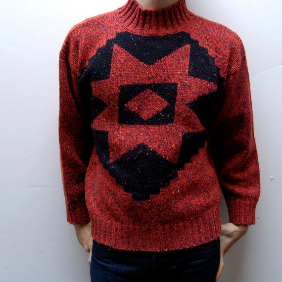 SOUTHWESTERN sweater thick knit native american
