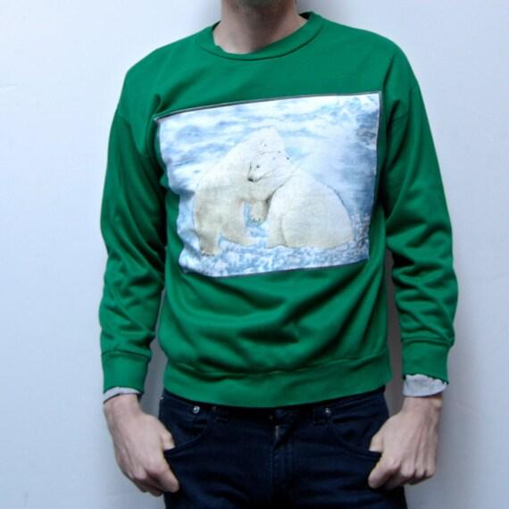 POLAR BEAR HUG cotton sweatshirt made in usa