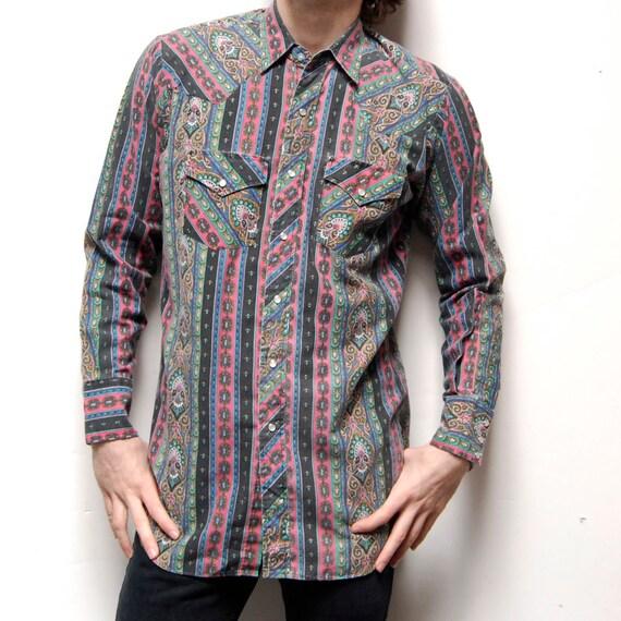 PAISLEY multicolored WESTERN long sleeve UNIQUE shirt