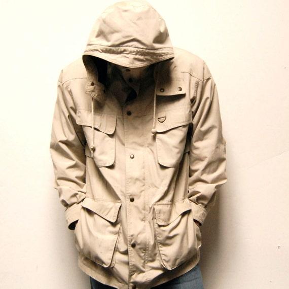 PARKA eddie bauer wool FLANNEL LINED rain jacket