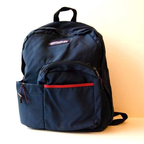 BLUE CANVAS multi pocket backpack made in USA