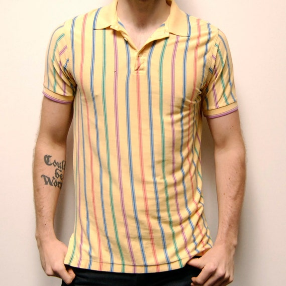 SUMMER COTTON gradient short sleeve POLO shirt