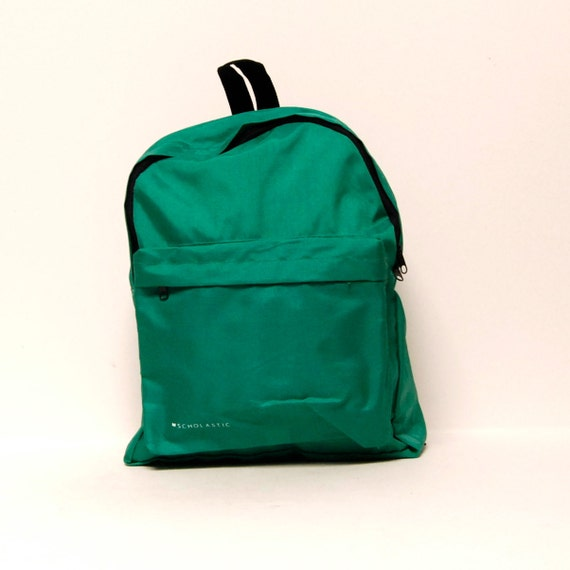 SOLID GREEN scholastic canvas classic BACKPACK