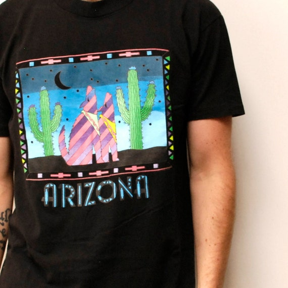 COYOTE CHORUS black COTTON t-shirt made in usa 80s