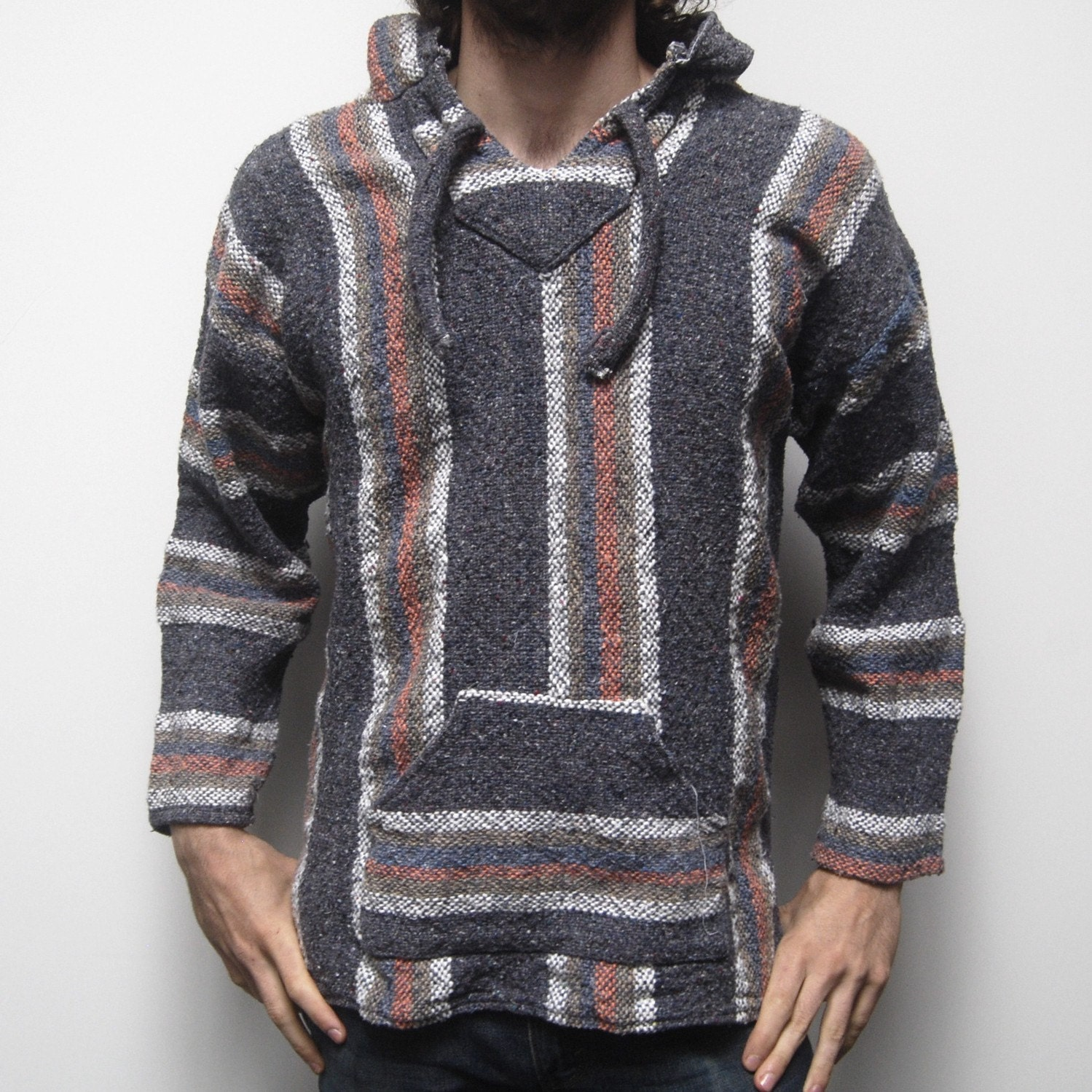 This Baja, Drug Rug, Jerga Is A Step Above Your Typical Baja Jacket Galaxy Reborn Baja Hoodie Sea Glass Green Mexican Poncho Pullover Drug Rug Jerga. by Galaxy Reborn. $ $ 32 95 Prime. FREE Shipping on eligible orders. Some sizes/colors are Prime eligible. 5 out of 5 stars 6.