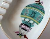 Hot air balloon porcelain ashtray