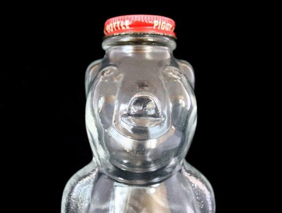 Piggy bank syrup jar