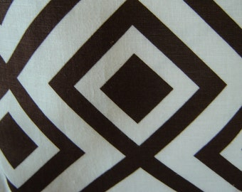 LA FIORENTINA Pillow Cover, David Hicks Fabric , Brown / Ivory