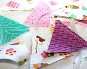 Mini Fabric Flag Bunting - Cupcake Girl