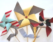 Large Fabric Pinwheels - Vintage Carnival - Set of  3