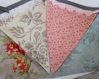 Large Fabric Bunting - Vintage Mae