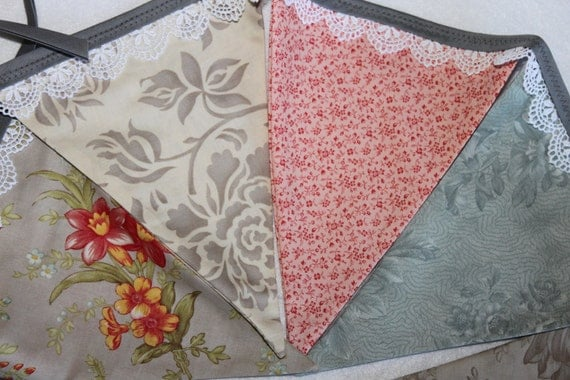 Large Fabric Bunting - Vintage Mae