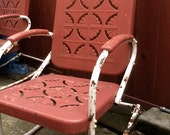 Three Vintage Metal Lawn Chairs