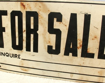 Vintage Metal for Sale Sign