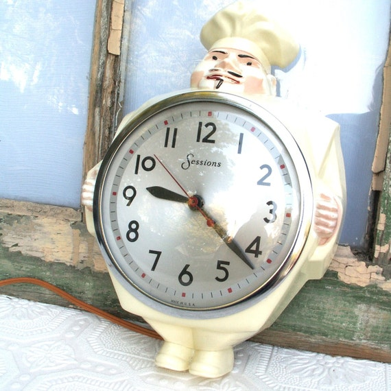 Vintage Sessions Chef Kitchen Wall Clock By