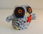 Officer Hoot- Cozy Cuddly Hand Knit Owl
