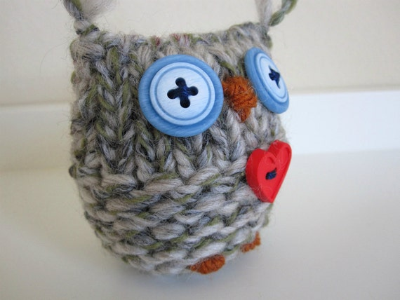 Owl- Knitted Merino Wool Love Owl