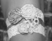 Vintage Romance Bridal Garter Set (Design 2)- Choose Your Colors