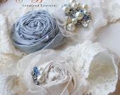 Bridal Garter Set- Chica Luxe Series- Something Blue