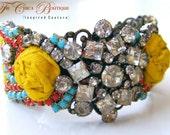 Custom Cuff Bracelet- BoHo Glamour-The Bohemian Chica