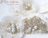 Heirloom Bridal Garter Set- Haute Couture Series- (Design 1)
