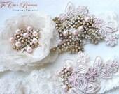 Heirloom Bridal Garter Set- Haute Couture Series- (Design 3)
