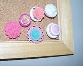 Shabby Chic Corals and Pinks- Push Pin or Thumbtack