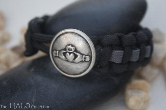 Paracord Survival Bracelet - Claddagh Design