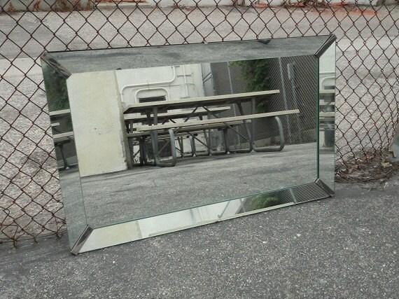 RESERVE-BETH-Vintage Art Deco Rectangular Mirror (Los Angeles)