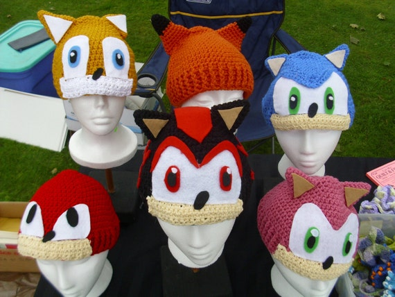 Sonic The Hedgehog Character Hats