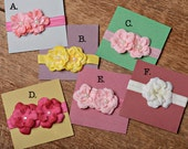 Spring Headband Collection, Pink, Yellow, Cream, Dark Pink, Bright Pink, Ready to Ship