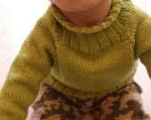 Instructions to make: Wilhelmina's Baby Sweater PDF Pattern