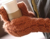 Instructions to make: Magnum Cable Rib Mittens PDF Pattern