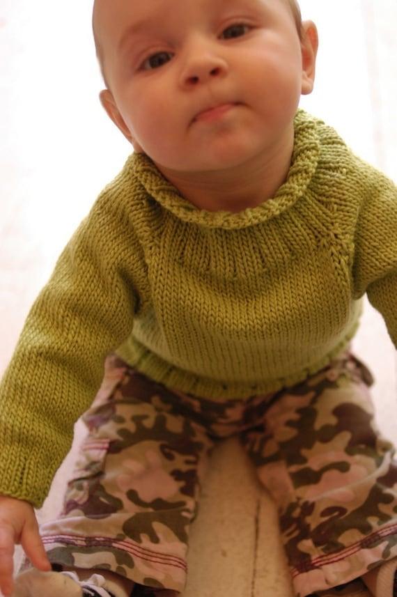 Instructions to make: Wilhelmina's Baby Sweater PDF Pattern