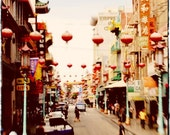 bustling china town