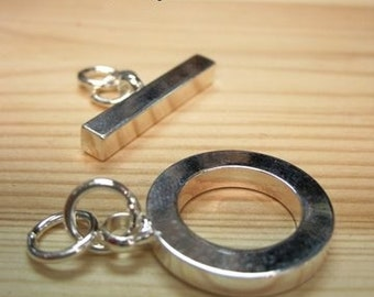 Silver Plated Toggle Clasp