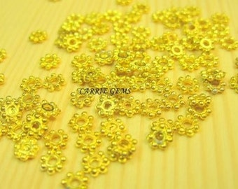 Gold Plated 2mm Flower Cap
