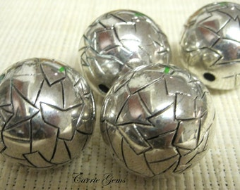 Silver Plated Large Ball 33 mm, 1 pc