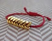 Unisex Hex Nut Bracelet - Maroon