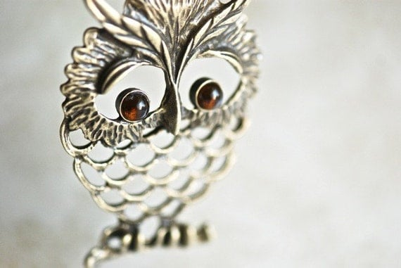 Mister Amber Hoot - Owl necklace