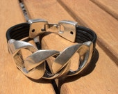 chain bracelet, unique jewelry, unique bracelet, original bracelet, unusual bracelets, unusual jewelry, leather bracelet, silver jewelry