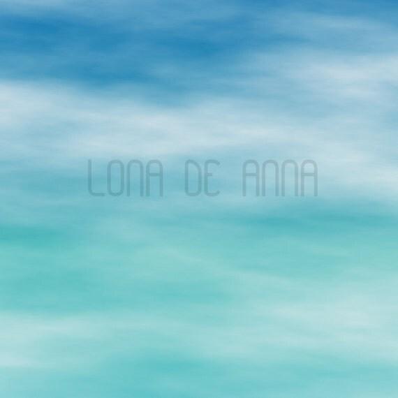 Aqua Sky - Graphic Print A3