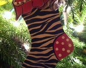 Hand Painted Whimsical Stocking Ornament