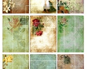 Vintage Backgrounds-9 Digital Background Designs for ATC, Aceo and Tags-Printable Collage Instant Download