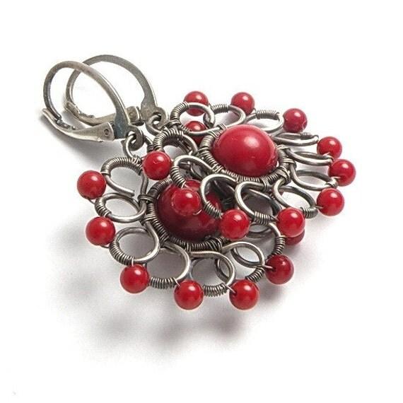 Tutorial V - wire wrapped earrings , wire wrap jewelry , jewelry tutorial , PDF file